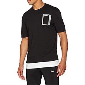 PUMA summer rebel logo print layered t-shirt XL